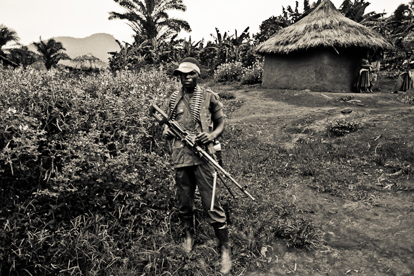 FDLR rebel soldier in eastern Congo.