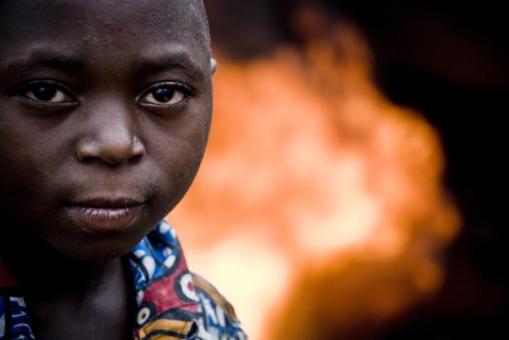 A boy in Goma.