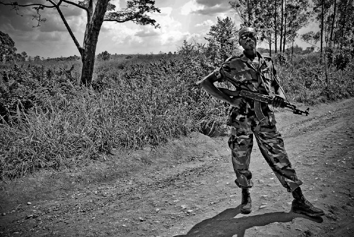 CNDP soldier near Ugandan border.