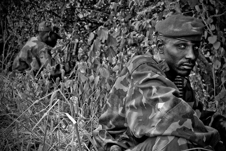 CNDP soldiers near Ugandan border.