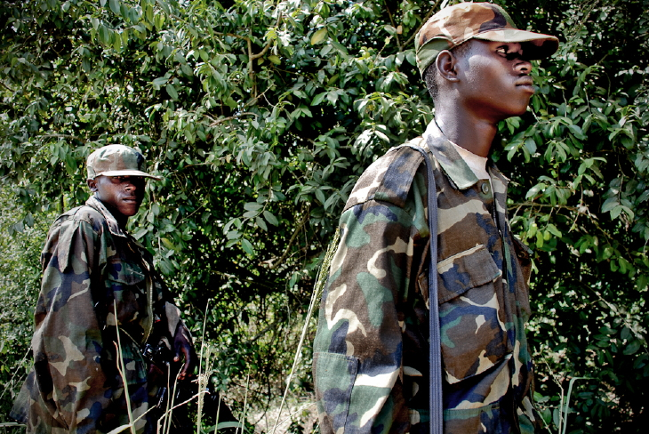 CNDP rebel soldiers near Ugandan border.