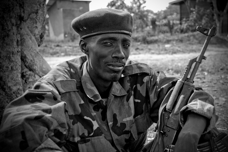 CNDP soldier near Ugandan border.