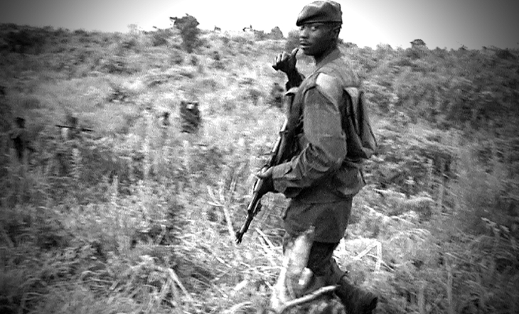 FARDC soldiers north of Kibati. Video screen grab.