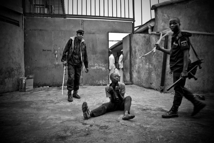 Streetboy beaten in Goma.