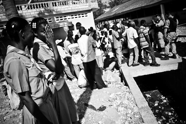 Haitian scouts in Jacmel.