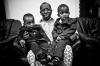 Sharif Sheikh Ahmed with his sons.