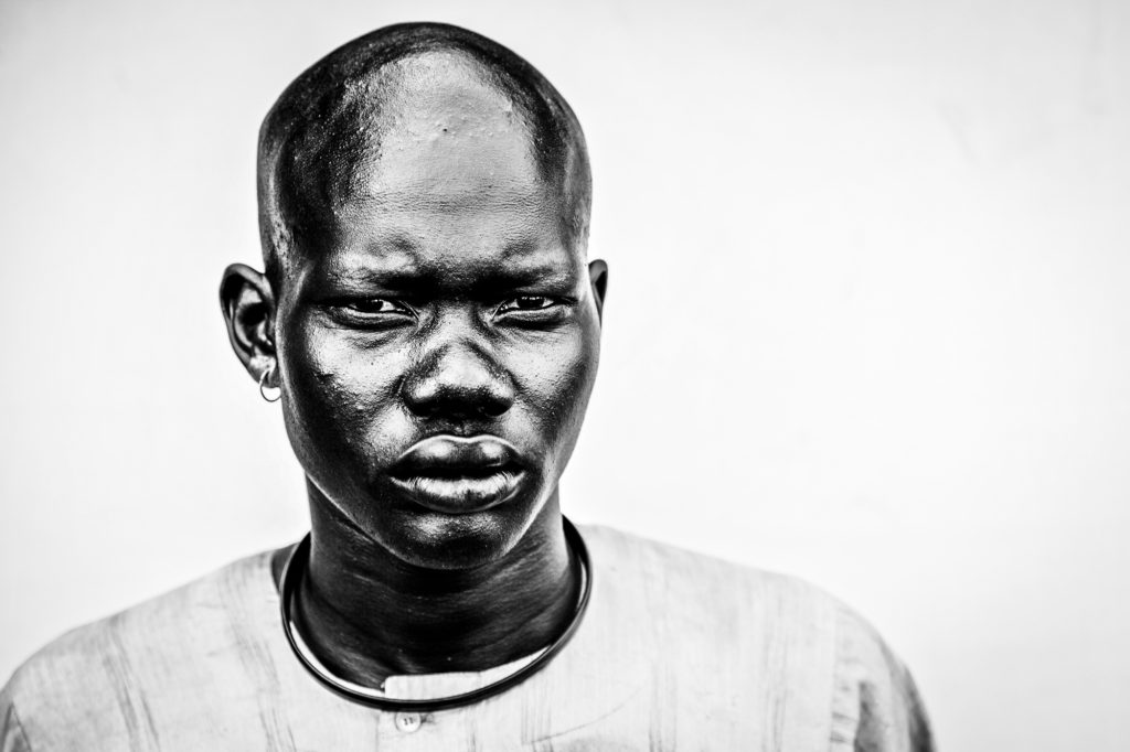 Dinka herdsman in Yirol, South Sudan. 1/100 signed 13